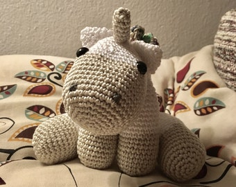 Small, crochet Unicorn