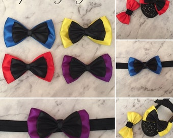 Shoe Bow Clips Hair Bow Clip Baby Headband Alligator Clip Black with Red / Yellow / Blue / Purple