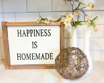 Happiness Is Homemade Sign, Wood Sign, Farmhouse Sign