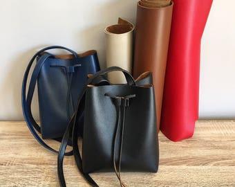 Carla artificial leather bucket bag purse Purse leather Vegan Camel Beige red blue EC created ' ture