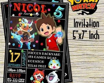 Yo-Kai Watch Birthday Invitation -Yo-Kai Watch Birthday Party Invitation -Yo-Kai Watch Printable Digital File-Yo-Kai Watch Invitation