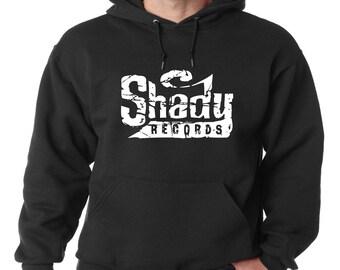 Shady Records Logo Hoodie Classic Vintage Style Hip Hop Fleece Sweatshirt Eminem Slim Shady Detroit Music Dirty Dozen Rap God D-Twizzy New