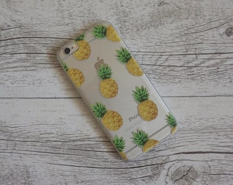 Pineapple Fever Fruity Design Soft Mobile Phone Case - for; iPhone 5/5s, 6/6s, 6/6s Plus, SE, 7, 7 Plus, 8 & 8 Plus