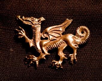 Dragon pendant - Welsh style - F-36