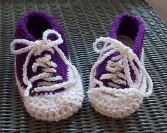 Dark Orchid / Purple Tennis Shoe House Slippers - Size 6 - 7