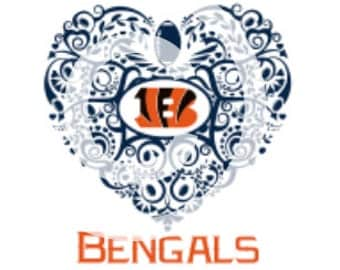Cincinnati Bengals Ornate Heart SVG File