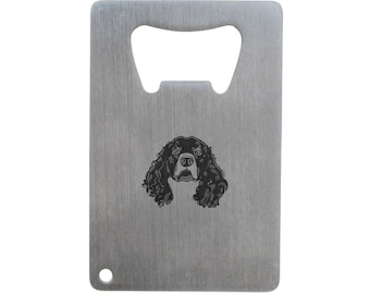 Irish Water Spaniel Bottle Opener, Stainless Steel Credit Card Size, Bottle Opener For Your Wallet, Credit Card Size