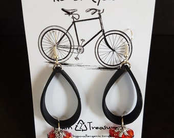 Inner Tube Earrings, Recycled, Upcycled, Eco-friendly, Trash to Treasure, One of a Kind Gift