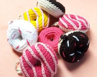 Crochet Donut Keychain