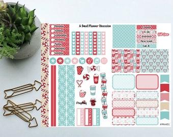 Peppermint Mocha happy planner mini stickers, Christmas stickers, Mini happy planner stickers, #mini01