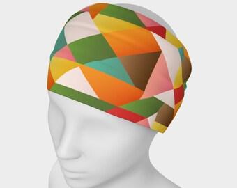 Geometric headband, geometric scarf, cool headband, cool scarf, yoga headband
