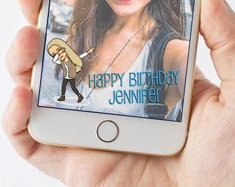 Personalized Bitmoji Birthday Snapchat Filter 1014