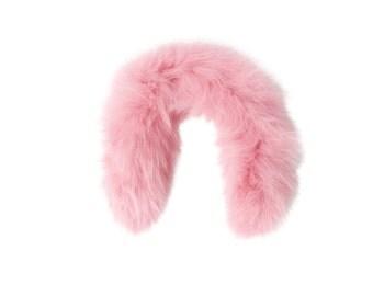 Baby: Fox Fur Hood trim for puffer coat (hot pink)
