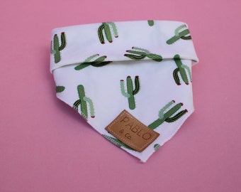 Ya Prick Cactus Green Gold  Saguaro Dog Bandana Tie On Bandana Dog Accessories Fashion Apparel Neckerchief Designer by Pablo & Co