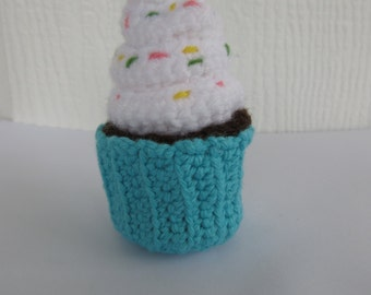 amigurumi cupcake, crochet, sprinkles, dessert, pretend play, play food, play kitchen
