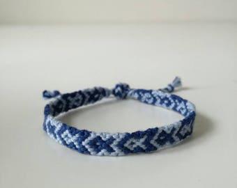 woven bracelet, fish pattern