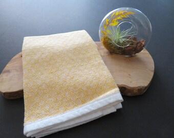 Handwoven Organic Cotton Linen Towel - Lemon