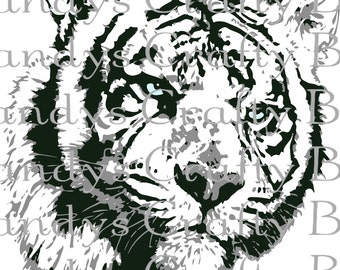 SVG White Tiger