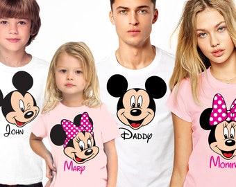 Disney shirts, Disney Family Shirts, Personalized Disney Vacation Shirts, Matching family disney shirts, Custom disney family shirts,