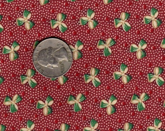 Aunt Grace  by Judie Rothermel Green Bow ond Dotted Red OOP Fat Quarter