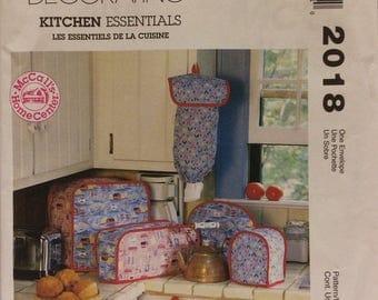 Sewing pattern McCalls Home Decorating  Kitchen Essentials pattern 2018