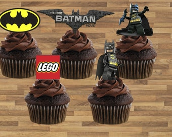 Batman Lego Movie Cupcake Toppers - DIY Instantly Downloadable and Printable