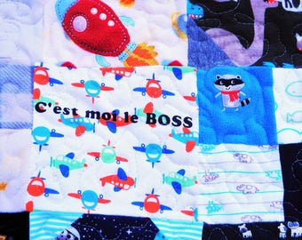 Custom Baby and Little Boy Clothing Memory Quilt - Queen Size