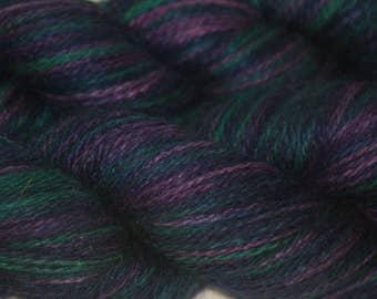 "Silk/ Cashmere Yarn Hand-painted ""Rowena"""