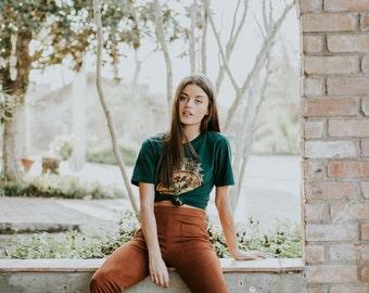 Womens Sale Retro 70s STAR GAZER Shirt Western Southwest Tee Top Vintage Retro Cotton Fashion Short Sleeve Tshirt S M L XL
