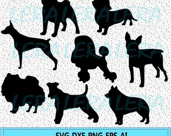 60 % OFF, Dog Silhouette eps, png, dxf, Dog SVG, Dog Clipart, Animals Silhouettes, Silhouette Files, Dog Cut Files, Cut Png File, Dogs black
