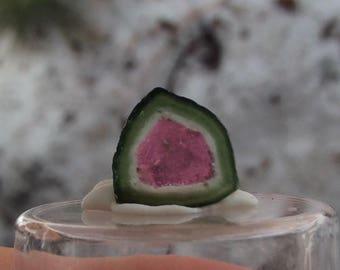 4.2 ct watermelon tourmaline slice from Kunar,Afghanistan D8*