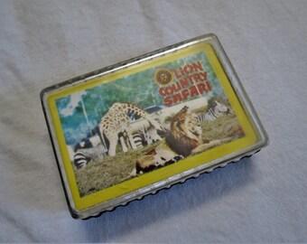 Kings Dominion Virginia Lion Country Safari Vintage Souvenir Playing Cards Amusement Theme Park Paramount Pictures Cedar Fair