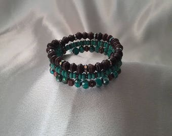 Turquoise,gems and wood