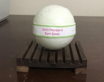 Juicy Pearberry Bath Bomb, Bath Fizzy 3 oz