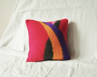 Artisanal felt cushion
