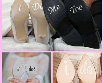 I Do Personalised Vinyl Wedding Shoe Decal Sticker Removable