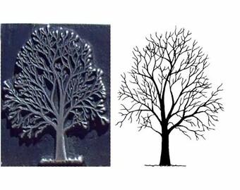 tree stanp winter tree inspired printing stamp