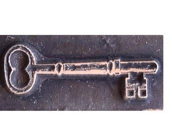 vintage key inspired printing stamp