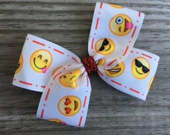 Emoji Bow / Emoji Hair Bow