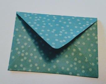 blue polka dot 4-bar envelopes (pack of 10)