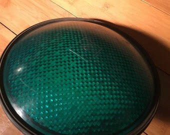 Vintage Green Traffic Light Lens ~ Plastic ~ Eagle