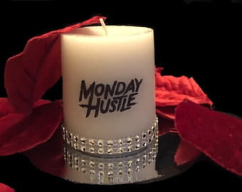 Monday hustle bling candle