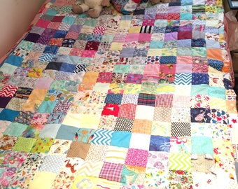 Beautiful family/kids patchwork quilt, Winnie the Pooh theme. Sofa throw/ blanket