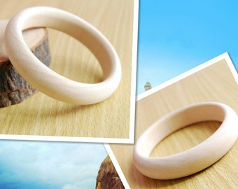 2pieces unfinished wooden bangles bracelets