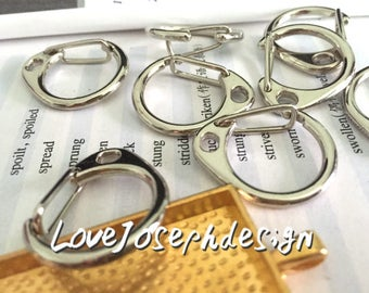 Set of 10 Pieces /Lot Stainless Steel Lobster Clasp 24mm 26mm 32mm