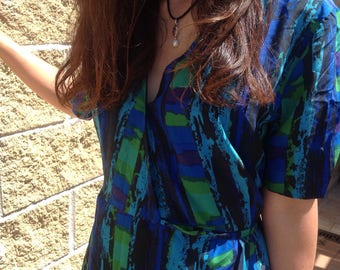 Vintage silk dress. Tailored Suit. Handmade dress. Made in Italy dress. Tailored Dress