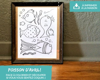 Coloring fish - downloadable and printable at home