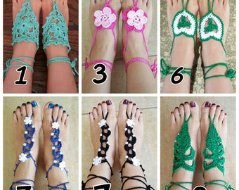 Adult lady barefoot sandals / foot jewellery
