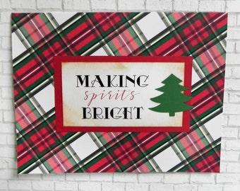 Christmas Tree Card, Christmas Card, Holiday card, Handmade card