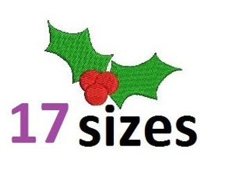 Holly Berry Christmas Embroidery Design , Berries Fill Embroidery Design , Christmas Design Embroidery Instant Download ER1018F3
